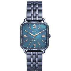 Micah Three-Hand Blue Stainless Steel Watch (8.400 RUB) ❤ liked on Polyvore featuring jewelry, watches, blue jewelry, stainless steel jewelry, blue wrist watch, stainless steel wrist watch and stainless steel watches