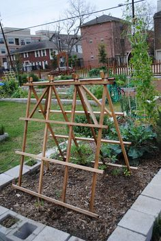 Plant trellis for the vegetable garden ::  Lucy's in the Garden