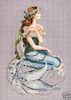 Mirabilia Counted Cross Stitch Chart with Bead pack ~ ENCHANTED MERMAID #84 Sale