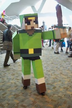 I think I just found Nick's Hallowe'en costume... that boy loves his MineCraft.