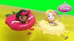 Disney Princess Floating Cuties Snow White Rapunzel Little Kingdom Princess Videos, Rapunzel, Snow White, Disney Princess, Water, Fun, Collection, Gripe Water, Tangled