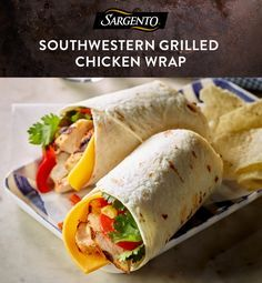 Create a flavorful, Southwest-inspired dinner with chili-coated grilled chicken and homemade veggie salsa. Tuck slices of 100% real, natural cheese into the side of the wrap for extra flavor. Get the full recipe on our website.