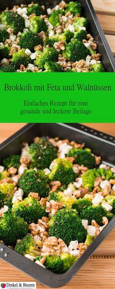 Beilage Brokkoli Feta Walnüsse