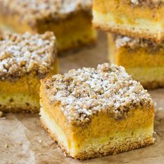 3 incredible layers of tender cake crust, creamy pumpkin filling and crumbly, buttery streusel topping. Delicious!