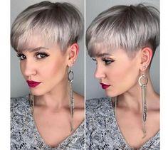 Modne krotkie fryzury damskie 2016 - z grzywką pixie cut, asymetryczne, z irokezem.