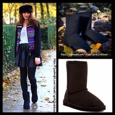 """Black Short Boots Booties Vegan Suede RETAIL PRICE: $ 78  💟NEW WITH TAGS💟   Black Vegan Shearling Lined Boots   * Pull On style  * Solid Allover color  * Round Toe & exposed seams   * Soft & cozy lining  * 7.5"""" high shaft & about a 15"""" circumstance   Fabric: Polyester Lining 92100 Color: Black Item: Bucco Brand For BP Nordstrom  🚫No Trades🚫 ✅ Offers Considered*✅ *Please use the blue 'offer' button to submit an offer. BP Nordstrom Brand Shoes Ankle Boots & Booties"""