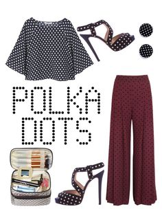 """""""Polka Party!"""" by miniemily ❤ liked on Polyvore featuring MANGO, See by Chloé and Oscar de la Renta"""