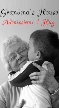 Grandma and Grandpa's house admission is a hug from the grandkids. Big Bisous, Quotes About Grandchildren, Grandmothers Love, Grandma Quotes, Grands Parents, Grandma And Grandpa, Big Hugs, Family Love, Grandkids
