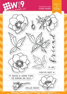 Modern Anemones Stamps Wplus9 CL-WP9MA
