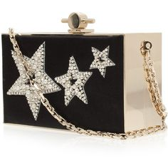 JASON WU Star Embroidered Satin Box Clutch ($1,983) ❤ liked on Polyvore