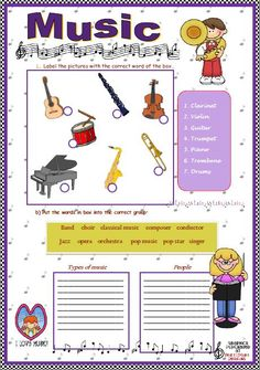 53 Free Music Worksheets - I'll have to check this out to see if there are any good worksheets for music subs!