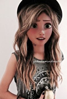 rapunzel y jack modernos Disney Actual, Emo Disney, Rapunzel Disney, Punk Disney Princesses, Cute Disney, Disney Girls, Disney Songs, Disney Facts, Disney Villains