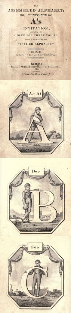 ABC reference from 1813. Read it on the DIY Collaboratorium's library. Great for craft ideas!