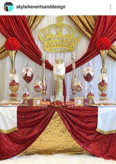 Royal Red Prince Baby Shower and Decor