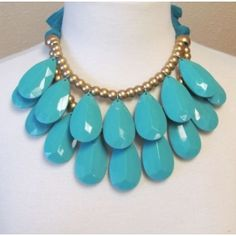 I'll take one in every color for that price! Waterfall Necklace in Turquoise only $30.