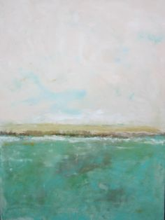 Large Abstract Ocean Seascape Painting - Light Aqua Sea  36 x 48. $1,150.00, via Etsy.