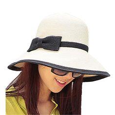 Chic Ladies Womens Straw Sun Hat UPF50+ Wide Brim Floppy Hat Summer Beach Bucket Cap Home Prefer http://www.amazon.com/dp/B01CCVXQ7I/ref=cm_sw_r_pi_dp_OIx3wb09PEWHW