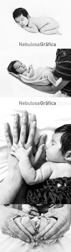 Newborn baby photoshoot black and white