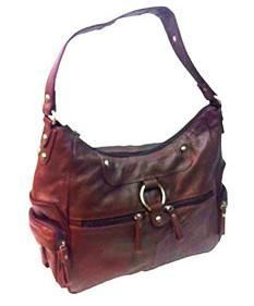 Leather Concealed Carry Handbag Gun Purse/ CCW Shoulder Bag - Brown $86.99 + Free Shipping! wantedwardrobe.com wantedwardrobe.net #CCW #handbags #fashion
