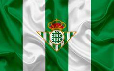 Download wallpapers Real Betis, football club, emblem, logo, La Liga, Sevilla, Spain, LFP, Spanish Football Championships