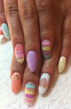 nail design nail designs I love the heart!