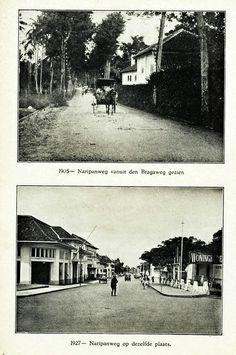 Naripanweg te Bandoeng 1905 & 1927.