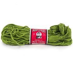 Vintage Aunt Lydias Yarn Heavy Rug #615 Grass Green 235 #Crafting #CraftProjects 70 Yard Skein #AuntLydias #RugYarn