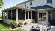 enclosed porch and deck combination