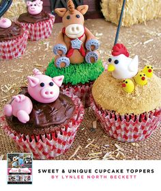 } New Book + Giveaway // Hostess with the Mostess® Farm Themed Party, Barnyard Party, Farm Party, Farm Animal Cupcakes, Book Cupcakes, Baby Birthday Cakes, 2nd Birthday Parties, Mini Tortillas, Cupcake Party