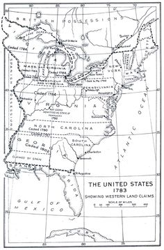 United States Map 1783
