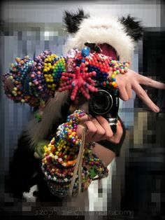 arm kandi boy, crazy stuff but neat/unique reminds me of decora fashion #edm #kandi #decora