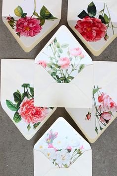 floral liners! You could use patterned paper, print your own photos, even use walpaper and the lovely Daintree Ladies will cut them for you for FREE!!
