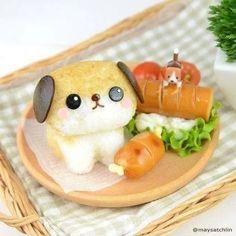 cute food cm bento Tng h - food Bento Kawaii, Cute Bento Boxes, Bento Box Lunch, Bento Food, Cute Food, Yummy Food, Japanese Food Art, Japanese Rice, Bento Recipes