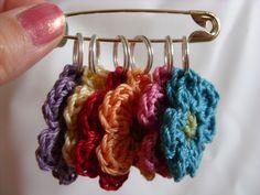 Six Crocheted Stitch Markers