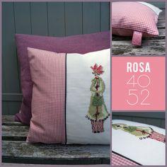Geschenke für Frauen - Kissen BLUMENFEE Kreuzstich - ein Designerstück von ROSA4052 bei DaWanda