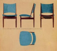 Finn Juhl, a set of 8 Egyptian chairs for Vodder Furniture Ads, Furniture Design, Furniture Sketches, Egyptian Furniture, Industrial Office Chairs, Small Swivel Chair, Chair Drawing, Danish Modern Furniture, Chair Bed