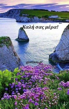 Good Morning Gif, Good Morning Messages, Beautiful Pink Roses, Greek Quotes, Good Night, Funny Quotes, Amazing, Pictures, Travel