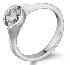 Rub over swirl diamond engagement ring RBC192 by www.diamondsandrings.co.uk