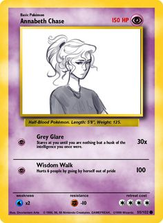 An Annabeth Pokémon card ANNABETH I CHOOSE YOU!
