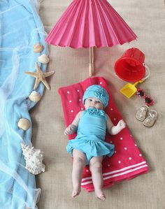 Beach baby set-up