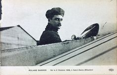 Roland Garros (French pronunciation: [ʁɔlɑ̃ ɡaʁɔs]; 6 October 1888 – 5 October 1918) was an early French aviator and a fighter pilot during World War I.