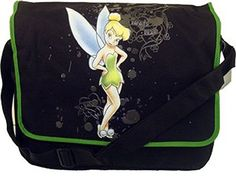 Disney Tinkerbell Messenger Bag ~ Black & Green