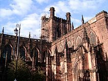 Architecture of the medieval cathedrals of England - The windows of Chester Cathedral have Curvilinear drip-mouldings.
