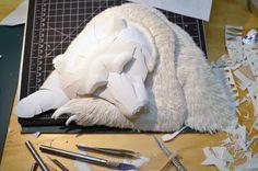Paper Sculptures by Calvin Nicholls: http://www.playmagazine.info/paper-sculptures-by-calvin-nicholls/