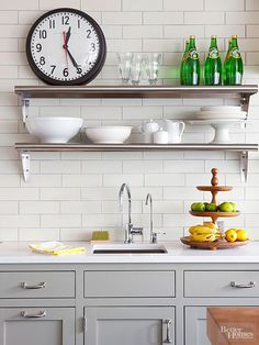 A white backsplash can be simple, sophisticated, or standout with your choice of accompanying paint colors, furniture, and accents. See our top ideas for white backsplashes, including suggestions for marble, mosaic, and subwa