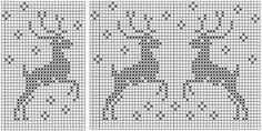 "Вязание: Норвежские орнаменты ""Олени"" Fair Isle Knitting Patterns, Fair Isle Pattern, Knitting Charts, Baby Knitting, Cross Stitching, Cross Stitch Embroidery, Crochet Stitches, Crochet Patterns, Scandinavian Pattern"