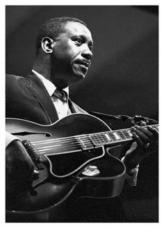 """Wes Montgomery; It was accomplished guitarist George Benson who is noted copying the  use of a technique called Octave Chording which originated by Wes later to be recorded in Bensons song """"You're Never Too Far Away From Me"""" and highlighted in """"Give Me the Night"""". Wes you were truly a gifted innovator in the study of guitar and music composition! It is worth stating both musicians are unparalleled in the field of Jazz guitar playing 🎸"""