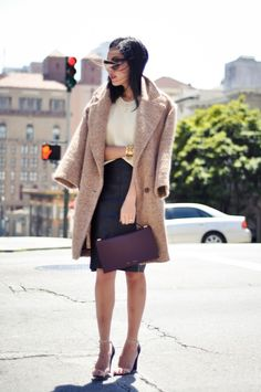 The leather skirt is so lux!  I need to get one.