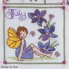 Lesley Teare - Birthday Fairies (Calendar 2015) - July