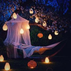 Find out Voice of Nature: Backyard hammock and lanterns...